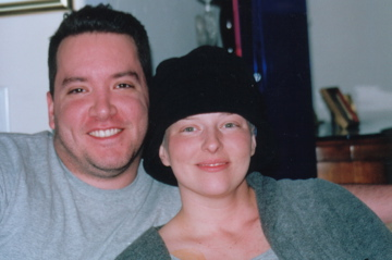 Brian with Joy during treatment.